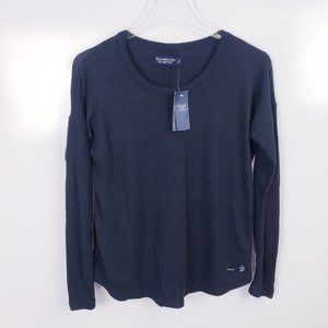 Abercrombie Soft AF Cozy Crew Neck Long Sleeve Tee